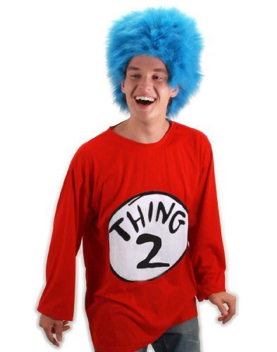 Thing 2 Adult Costume Kit Size: Small / Medium (Cartoon Character Costume Ideas Adults)