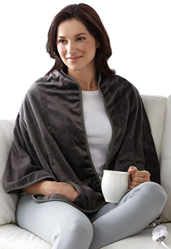 Sunbeam Heated Shawl, Gray