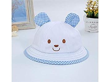 3df281fe2e9 Amazon.com   Yuchoi Sun Lovely Baby Bear Plaid Bucket Hat Kids Sun Visor  Packable Soft Wind Cap for 5-18 Months   Beauty