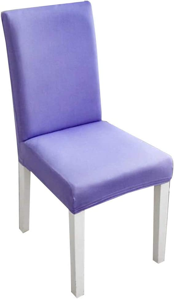 2 Stretch chair covers with backrest - Washable - Elastic - Protective - Kitchen - Dining room - Home - Furniture - 2 pieces - Red color Purple