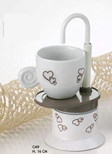 Bomboniere Matrimonio Caffettiera.Oggettistica Per Bomboniere 6 Pezzi Caffettiera Moka Design Cuori