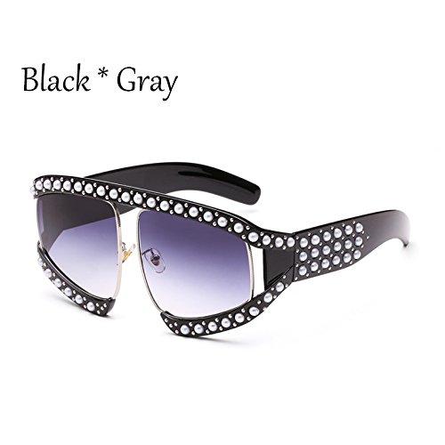 gafas enormes Unas de C13 TL Sunglasses gradiente tonos de G139 sol gafas C9 Protección sol UV solar mujer señoras qE155txwn