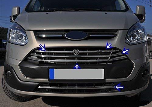 5 pezzi Transit//Tourneo Custom griglia anteriore in acciaio inox cromato