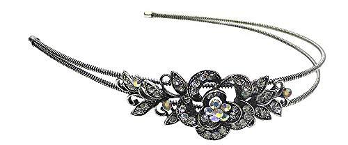 Crystal Flower Headband Flexible Wire Metal Hair Bands U86121-0119crystal ()