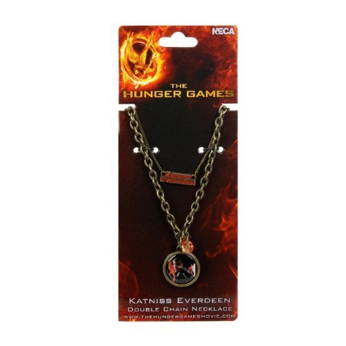 The Hunger Games Girl on Fire Katniss Everdeen Double Chain Necklace by -