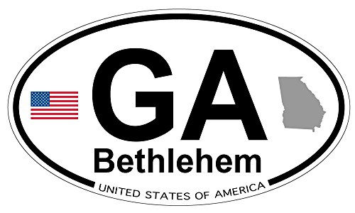 Bethlehem, Georgia Oval Sticker -