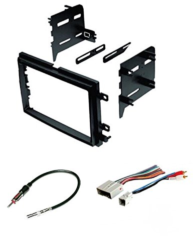 Car Stereo Radio Install Dash Kit, Wire Harness, and Antenna