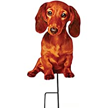 Dachshund Garden Stake Photo-Realistic Dog Yard Planter Accent Metal Dachshund Stake Pet Plant Garden Decor Yard Garden Art Cutout Lawn Spike Figurine