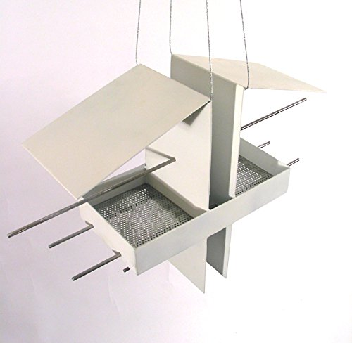 Duo Modern Bird Feeder in White