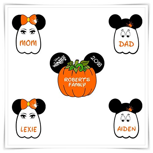 PERSONALIZED Disney Cruise Pumpkin Magnet. Handmade Halloween Disney Cruise Magnet. Halloween Ghost Minnie Mickey Head.
