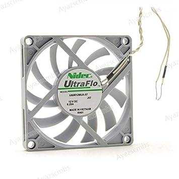 Ayazscmbs Compatibles para Nidec U80R12MUA-57 UltraFlo 8010 80MM ...