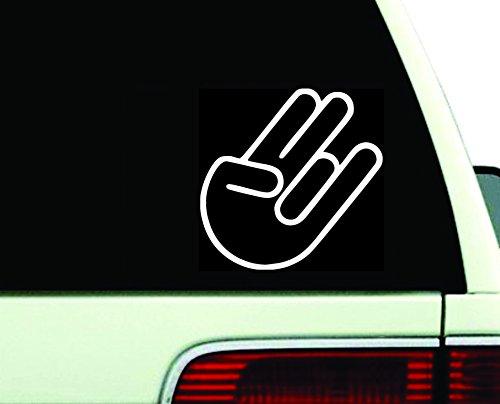 Rocker Hand Vinyl Sticker Decal Rock On JDM Shocker Car - Choose Size & Color (5.5