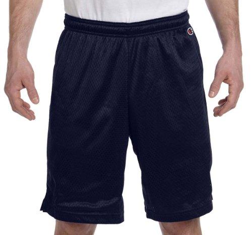 Champion Polyester Mesh Short 9', Navy, M