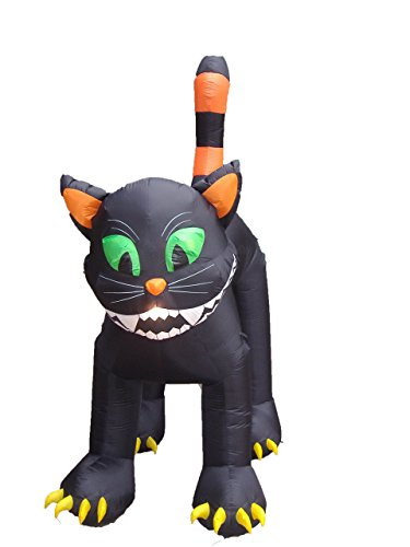 Black Cat Blow Up Halloween Decoration (11 Foot Animated Inflatable Giant Black)