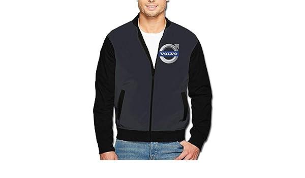 Hengteng Mens Rolls Royce Logo with Cap Sack Long Sleeves Zipper Sweater