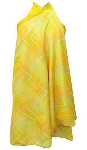 Garden Silk Chevron Printed Skirt Hippie Magic Reversible Wrap Hippie Silk Skirt