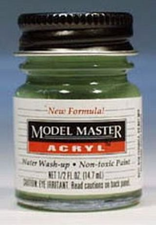 - Pale Green Testors Acrylic Plastic Model Paint