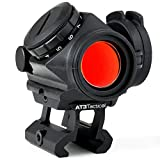 AT3 Tactical RD-50 PRO Red Dot Sight with 1″ Riser – for Lower 1/3 Cowitness with Iron Sights – 2 MOA Compact Red Dot Scope