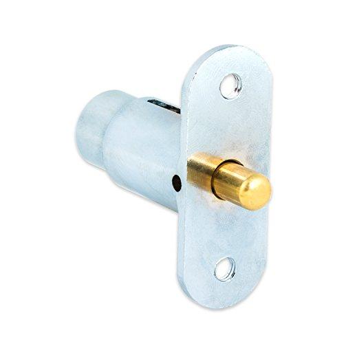 FJM Security 2612L-KA Push Lock with Chrome Finish, Keyed Alike Photo #3