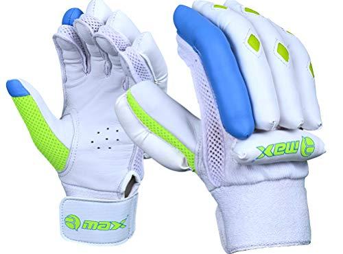RMAX Unisex Leather & PVC Cricket Batting Gloves (Senior, Right Hand, Green Blue) Price & Reviews