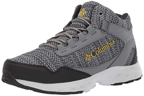 Columbia Men's IRRIGON Trail MID Knit Outdry Hiking Boot, Ti Grey Steel, Antique Moss, 8 ()