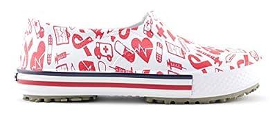 SMART ON GRIP Women's Non Slip Waterproof Professional Printed Sneakers