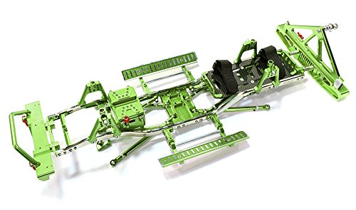 Integy RC Model Hop-ups C26936GREEN Steel Ladder Frame Chassis Kit w/Hop-up Combo for SCX-10, Dingo, Honcho & Jeep