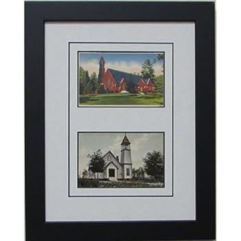 postcard frame for two 2 35 x 55 postcards black frame with white black trim matting