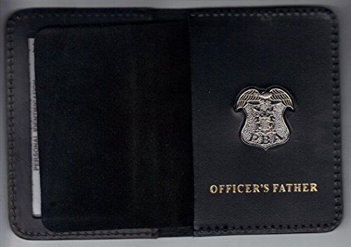 Silver Plated Card (New Jersey PBA Officer's Father ID Card Wallet silver plated pin included)