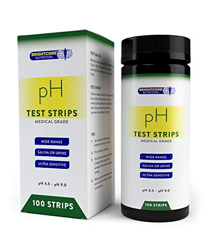 Brightcore Nutrition Diagnostic pH Test Strips - Fast, Accurate Saliva or Urine Testing - Clear Acidity or Alkalinity Analysis - Easy to Read Results - Free pH Food Chart PDF, ()