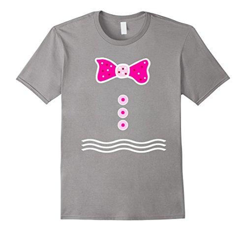 [Men's Pink Gingerbread Man Girl T-shirt Merry Christmas Tee Medium Slate] (Gumdrop Costume Ideas)