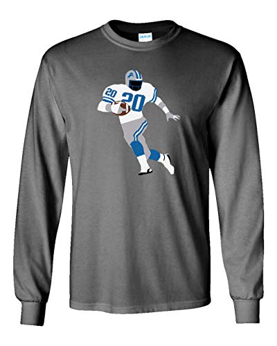 PROSPECT SHIRTS Long Sleeve Grey Detroit Sanders Pic T-Shirt Adult