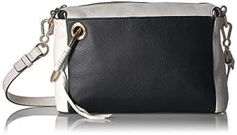 Vince Camuto Margi Shoulder, Black/Snow wh: Handbags