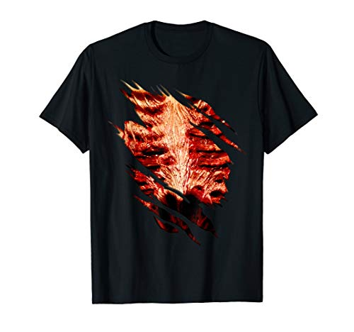 Halloween Costume Zombie Chest Ripped T Shirt ()