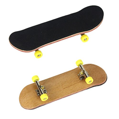 (Balai Wooden Fingerboard - Professional Type Bearing wheels Skid Pad Maple Wood Finger Skateboard Alloy Stent Bearing Wheel Mini Fingerboard Novelty Toy - Finger Skateboard (Styles Vary))