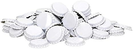 Hen Reusable Bottle Brewferm Crown Caps for Sealing Standard 26 mm Pack of 100 Metallic Pink