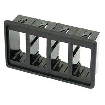 Amazon com: SAR Black Panel Rocker Switch Housing for (4) Rocker