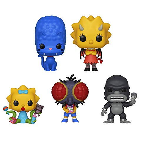 All Simpsons Halloween Episodes (Funko Pop!: Bundle of 5: Simpsons - King Homer, Panther Marge, Fly Boy Bart, Demon Lisa and Alien)