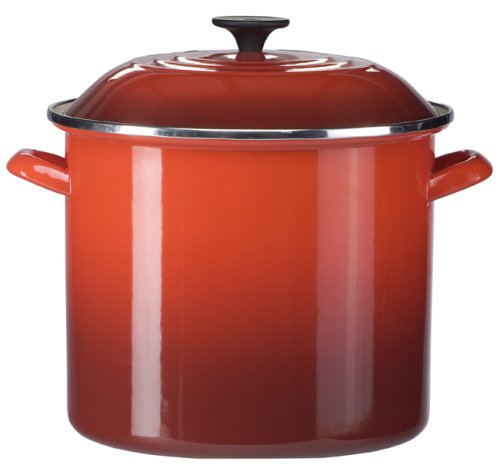 20 quart stock pot red - 1