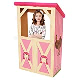BirthdayExpress Pink Cowgirl Room Decorations - Barn Stable Cardboard Playhouse Stand in Photo Prop