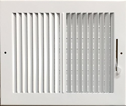 HBW 10x 8 (Duct Opening Size) 2-Way Stamped Face Steel Ceiling/sidewall Air Supply Register - Vent Cover - Actual Outside Dimension 11.75 X 9.75