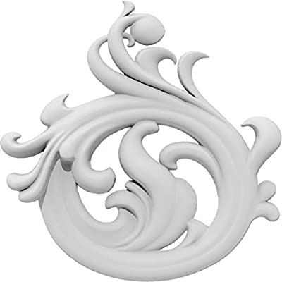 Ekena Millwork APLC020X020FYTUF-R Applique, White