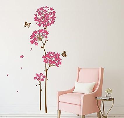 Decals Design Flowers Dandelion Wall Sticker (PVC Vinyl, 70 cm x 50 cm),Multicolour
