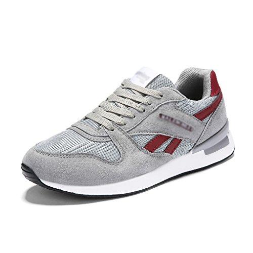 HWF Chaussures femme Sports Femme Printemps Chaussures De Course Mesh Respirant Plat Chaussures Décontractées Chaussures Pour Femmes ( Couleur : Gris , taille : 38 ) Gray-red