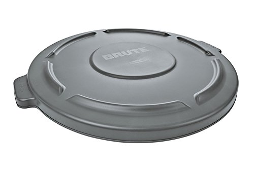 Rubbermaid Flat Lid - Retail Resource 2645-60 Gray Flat Trash Can Lid for 44 gal Rubbermaid Brute, Gray,