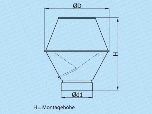 K02 - Campana extractora (sistema de acero galvanizado, 150 cm de diámetro): Amazon.es: Bricolaje y herramientas