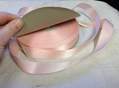 GreGby (TM) Double Face Satin Craft Washable Ribbon, 7/8-Inch Wide 50-Yard Spool,Made in Japan, Nylon (Candy Pink)