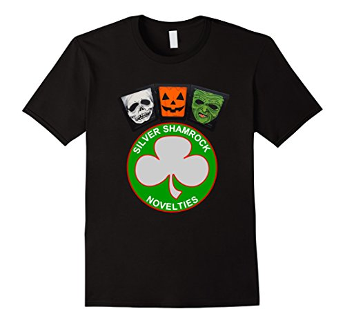 Mens Halloween III Silver Shamrock and Masks XL Black -