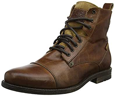 be3928f4 Image Unavailable. Image not available for. Colour: Levi's Emerson Lace Up  Boots - Medium Brown ...