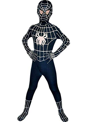 Barfest Boys Venom Black Cosplay Spandex Bodysuit Halloween Costume -